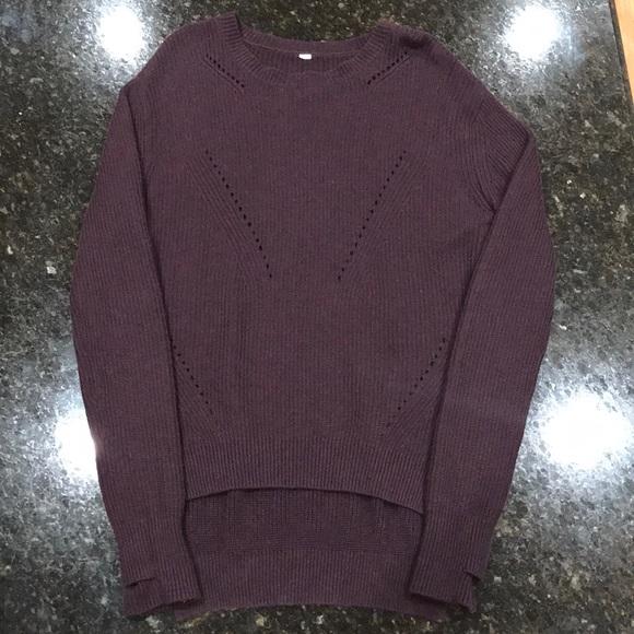 lululemon athletica Tops - lululemon merino wool sweater size 8